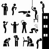 Man People Suicide Kill Depress Sad