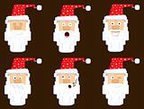 Santa face expressions