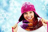 Happy girl in pink cap