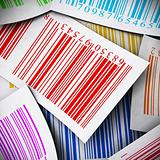 multicolored bar codes square image