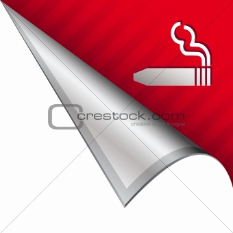 Cigar icon on peeling corner tab