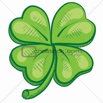 Four leaf clover sketch
