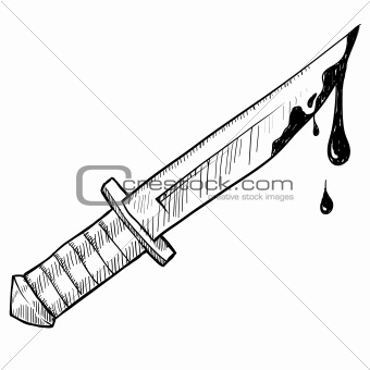 Bloody Knife Drawing