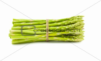 Bunch of  green fresh asparagus