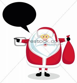 Santa with speech bubble