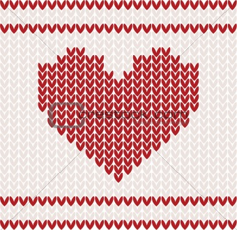 Knitted vector with heart