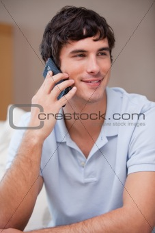 Man answering phonecall
