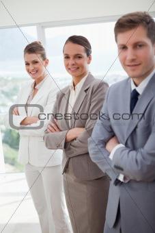 Office team introducing itself