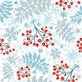 Winter seamless white pattern
