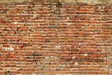 Non-plastered brick wall