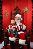 Baby Sitting on Santa&#39;s Lap