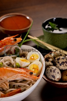 Bowl of Noodles with seafood