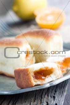 Delicious jam rolls