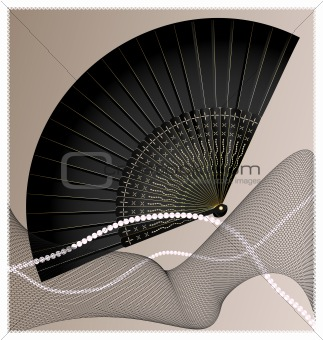 old black fan