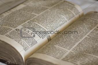 Old antique vintage open book