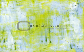 Blue and yellow abstract acryl painting