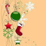 Beige Christmas background
