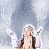 Cuty little girl in winter wear