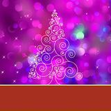 Christmas tree card with tree. EPS 8
