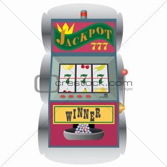 Slot machine with winning combination.