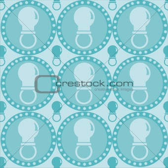 blue baby pacifiers pattern
