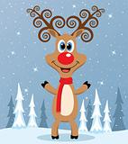 vector red nosed reindeer