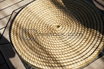 Bay of hemp rope