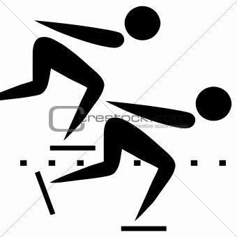 Speed skating sign
