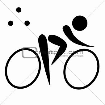 Triathlon sign or symbol
