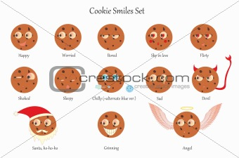 Cookie smiles set
