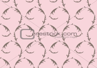 Grey and pink seamless ornament