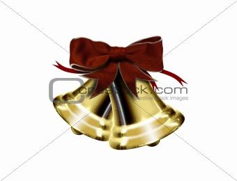 Christmas bells isolated