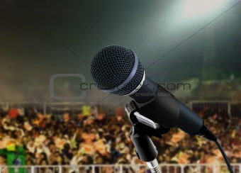 microphone live in concert