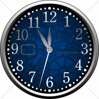 Blue Clock