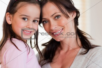 Close up of a girl and her mother
