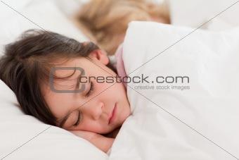 Calm children sleeping