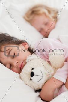 Portrait of calm children sleeping