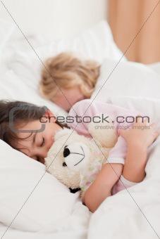 Portrait of children sleeping