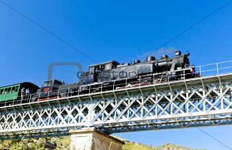 steam train in Douro Valley, Portugal