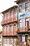 house with azulejos (tiles), Porto, Portugal