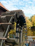 wheel of a sawmill