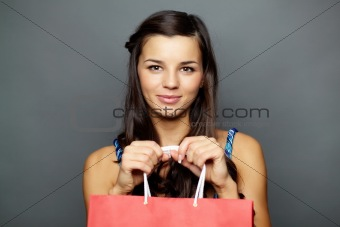Woman with paperbag
