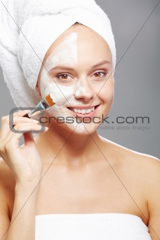 Applying mask