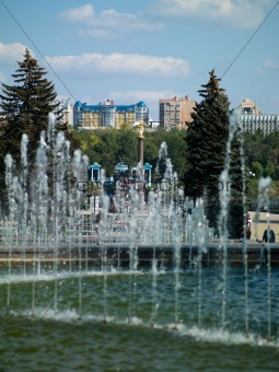 fountain in the center of Donetsk