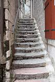 Outdoor stairs in  Kotor