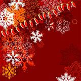 Dark red winter background