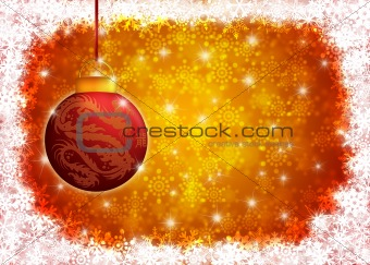 Hanging Year of the Dragon Christmas Ornament Illustration