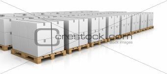 pallet and carton box