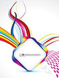 abstract colorful rainbow template