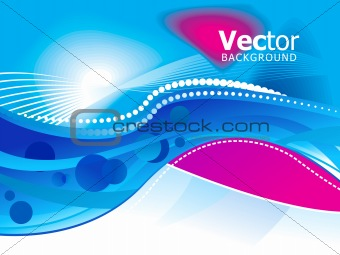 abstract blue based background template